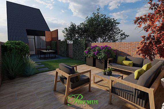 Smalle tuin, comfortabel inrichten